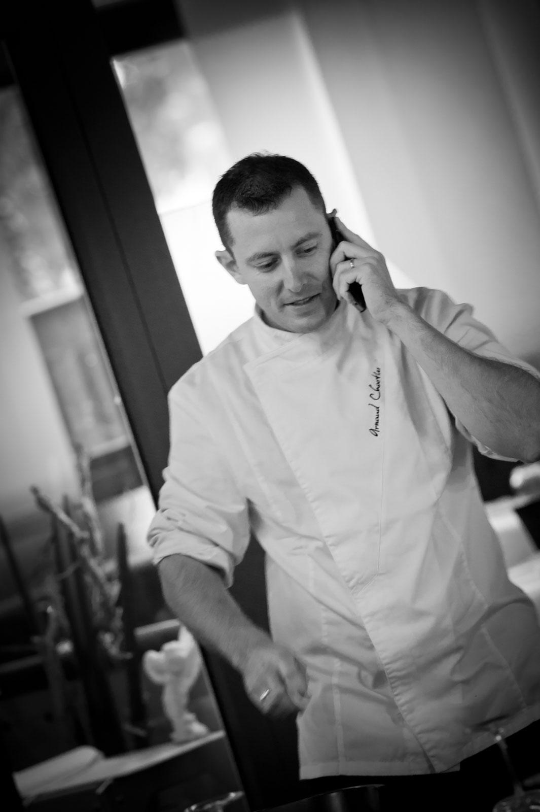 Le chef cuisinier Arnaud CHARTIER au restaurant LE PITEY